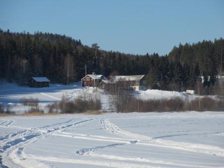 2 Blick vom gefrorenen See auf den Hof 2