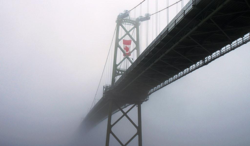 Mac Donald Bridge Halifax on Canada Day