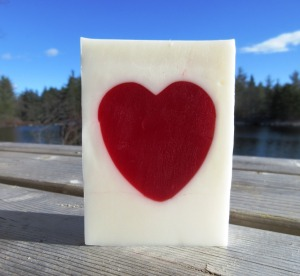 Strawberry Heart Soap