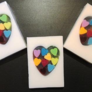 Strawberry Rainbow Hearts