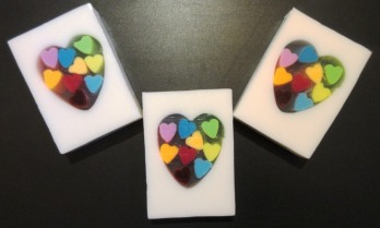 Strawberry Rainbow Hearts