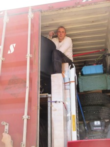 Restless-Roots Container ready to load for move to Sweden