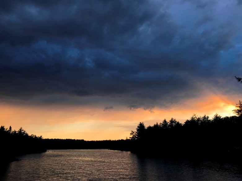 Dark clouds and sunset