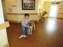 Therapie dog team Manuela & Emmy