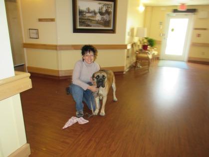 Therapie dog team Manuela & Emmy